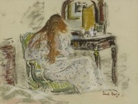 Paul Maze DCM MM (1887-1979) Jessie at her dressing table
