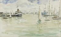 Paul Maze Sailing Boats at Cowes