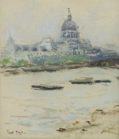Paul Maze View of the Thames with St Paul's