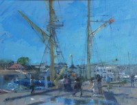 Richard Pikesley Weymouth Quay & 'Pelican'