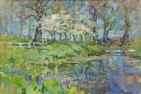 Susan Ryder RP NEAC Pond with Amalancia
