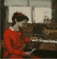 Robert E Wells NEAC Red Dress, Piano