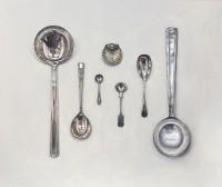 Rachel Ross Arranged Spoons with Silver Salt Cellar