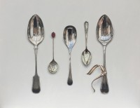 Rachel Ross Arranged Spoons with Striped Ribbon