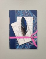 Rachel Ross Tied Book with Letters and Feather
