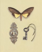 Rachel Ross Butterfly with Escutcheon and key