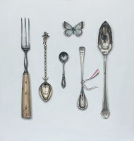 Rachel Ross Cutlery with Ribbon and Chalk Hill Blue