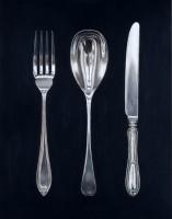 Rachel Ross Fork, Spoon and Knife on Black