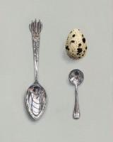 Rachel Ross Salt and Arrow Spoons with Quail's egg