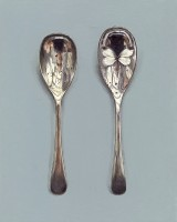 Rachel Ross Scratched Spoon with White Butterfly