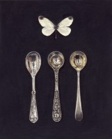 Rachel Ross Three Small Spoons with White Butterfly
