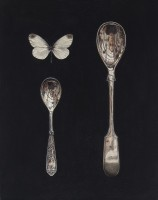 Rachel Ross White butterfly with small spoons