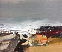 Chris Bushe RSW Red Rocks and a Raging Tide