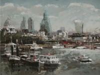 Robert E Wells City From Waterloo Bridge