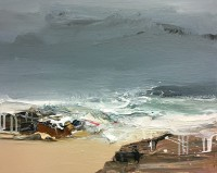 Chris Bushe RSW Rolling Sea and a Swirling Wind