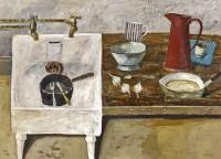 Simon Quadrat Still Life with Kitchen Sink