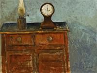 Simon Quadrat Still Life with Clock