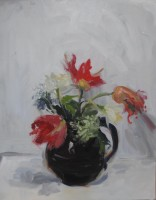 Serena Rowe Three Red Tulips