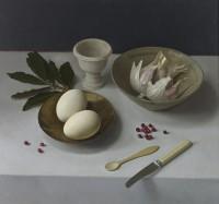 Sian Hopkinson Egg, Garlic and Pink Peppercorns