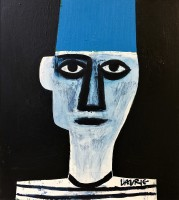Simon Laurie Head With Blue Fez