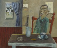 Simon Quadrat Young Man at a Table