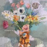 Helen Riches Spotty Orange Vase