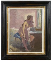 Stephen Bone (1904-1958) Nude in the Bedroom