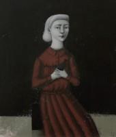 Svetlana Rumak Portrait in the Red Dress