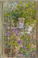Susan Ryder RP NEAC Terrace and Tulips