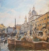 Tom Hoar Piazza Navona, Day