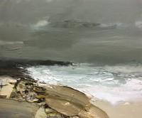 Chris Bushe RSW Turbulent Sea and a Grey Green Sky, Saligo Bay