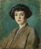 Modern British school c.1920s Portrait of a Young Girl