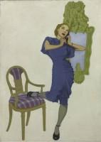 American Illustrator c.1930 Trunk Call