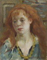 Henri Joseph Thomas (1878–1972) Head of a Young Girl