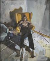 Valeria Duca Self Portrait in the Studio