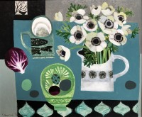 Vanessa Bowman Anemones,Green Bowl,Red Cabbage