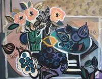 Marissa Weatherhead Roses and Striped Bowl
