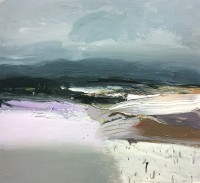 Chris Bushe RSW Winter Fields and More Snow to Come