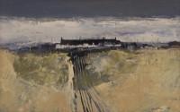 Gordon Wyllie RSW (1930-2005) Row of Cottages