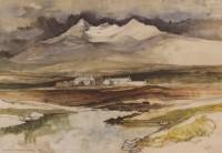 Gordon Wyllie RSW (1930-2005) Sligachan and Sgurr nan Gillean Skye