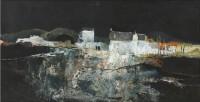 Gordon Wyllie RSW (1930-2005) Evening in a French Village