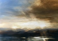 Zarina Stewart Clark Evening Sun, Jura from Loch Tarbert
