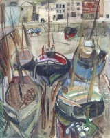 Margrete Marks (1899-1990) All Ships in the Harbour on Sunday