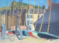 Margrete Marks (1899-1990) Bandstand on the Hill