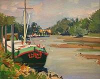 Luke Martineau Barge near Richmond Lock