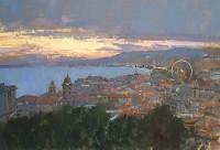 David Sawyer RBA The Big Wheel, Sunset Over Nice