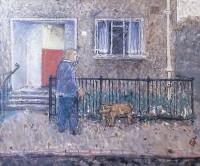 John Boyd (1940-2001) RGI RP Walking the dog