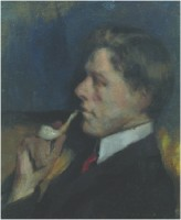 Francis Campbell Boileau Cadell (1883-1937) RSA Man with a Pipe