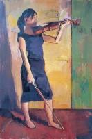 Luke Martineau Celia with Violin