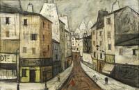 Charles Levier Street view in Montmartre, Paris